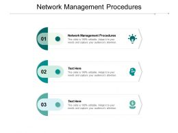 Network Management Procedures Ppt Powerpoint Presentation Gallery Objects Cpb