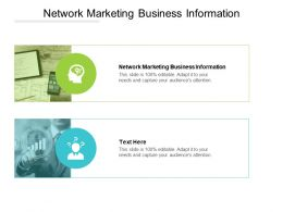 Network Marketing Business Information Ppt Powerpoint Presentation Template Cpb
