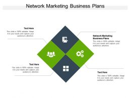 Network Marketing Business Plans Ppt Powerpoint Presentation File Graphics Pictures Cpb