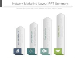 Network Marketing Layout Ppt Summary