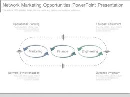 Network Marketing Opportunities Powerpoint Presentation