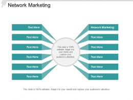 Network Marketing Ppt Powerpoint Presentation Infographic Template Demonstration Cpb
