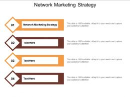 Network Marketing Strategy Ppt Powerpoint Presentation Infographic Template Influencers Cpb