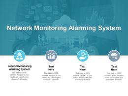 Network Monitoring Alarming System Ppt Powerpoint Presentation Diagram Graph Charts Cpb