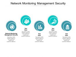 Network Monitoring Management Security Ppt Powerpoint Presentation Pictures Shapes Cpb