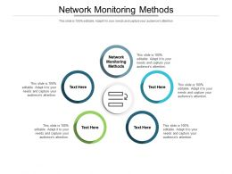Network Monitoring Methods Ppt Powerpoint Presentation Professional Graphics Tutorials Cpb