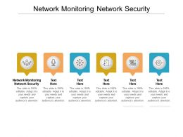 Network Monitoring Network Security Ppt Powerpoint Presentation Layouts Good Cpb