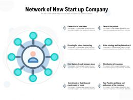 Network Of New Start Up Company