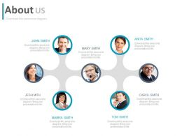Network Of Professionals For About Us Powerpoint Slides