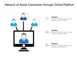 Network Of Social Connection Through Online Platform