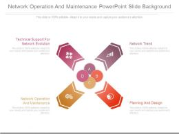 Network Operation And Maintenance Powerpoint Slide Background