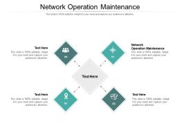 Network Operation Maintenance Ppt Powerpoint Presentation Inspiration Graphics Tutorials Cpb