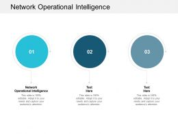 Network Operational Intelligence Ppt Powerpoint Presentation Icon Slide Cpb