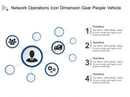 Network Operations Icon Dimension Gear People Vehicle