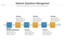 Network Operations Management Ppt Powerpoint Presentation File Slide Cpb