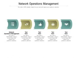 Network Operations Management Ppt Powerpoint Presentation Pictures Layouts Cpb