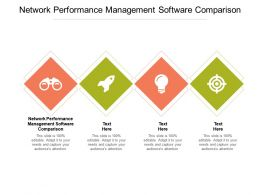 Network Performance Management Software Comparison Powerpoint Presentation Display Cpb