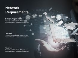Network Requirements Ppt Powerpoint Presentation Ideas Design Inspiration Cpb