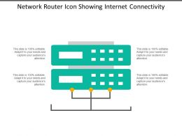 Network Router Icon Showing Internet Connectivity
