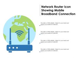Network Router Icon Showing Mobile Broadband Connection