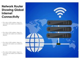 Network Router Showing Global Internet Connectivity