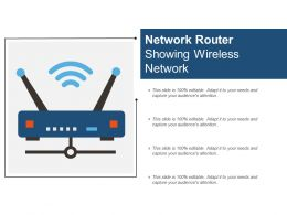 Network Router Showing Wireless Network
