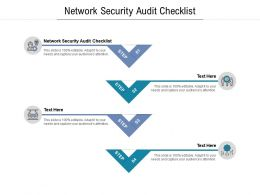 Network Security Audit Checklist Ppt Powerpoint Presentation Outline Graphics Download Cpb