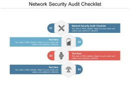 Network Security Audit Checklist Ppt Powerpoint Presentation Templates Cpb