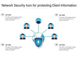 Network Security Icon For Protecting Client Information