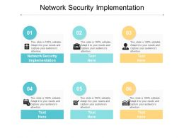 Network Security Implementation Ppt Powerpoint Presentation Icon Deck Cpb