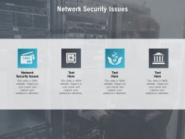 Network Security Issues Ppt Powerpoint Presentation Gallery Objects Cpb