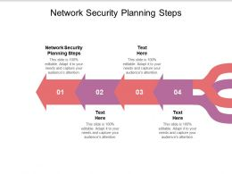 Network Security Planning Steps Ppt Powerpoint Presentation Infographic Template Brochure Cpb