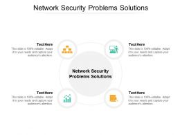 Network Security Problems Solutions Ppt Powerpoint Presentation Layouts Graphics Cpb