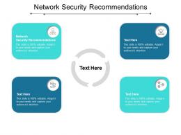 Network Security Recommendations Ppt Powerpoint Presentation Ideas Deck Cpb