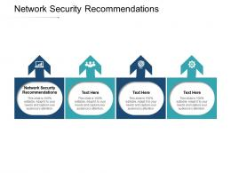 Network Security Recommendations Ppt Powerpoint Presentation Show Icons Cpb