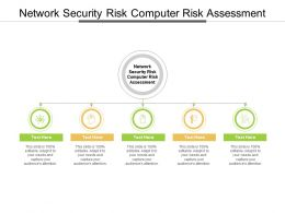 Network Security Risk Computer Risk Assessment Ppt Powerpoint Presentation Show Design Cpb