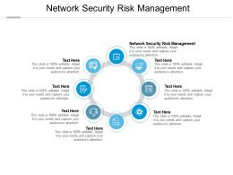 Network Security Risk Management Ppt Powerpoint Presentation Layouts Slideshow Cpb