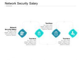 Network Security Salary Ppt Powerpoint Presentation Infographic Template Images Cpb