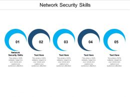 Network Security Skills Ppt Powerpoint Presentation Inspiration Backgrounds Cpb