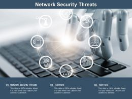 Network Security Threats Ppt Powerpoint Presentation Outline Information Cpb