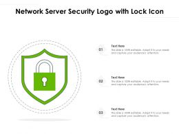 Network Server Security Logo With Lock Icon