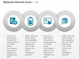 Network Setting Tablet Globe Magnifier Ppt Icons Graphics