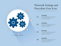 Network Settings And Procedure Gear Icon