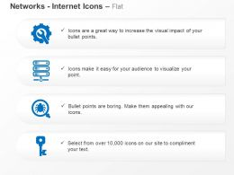 Network Settings Server Malware Key Ppt Icons Graphics