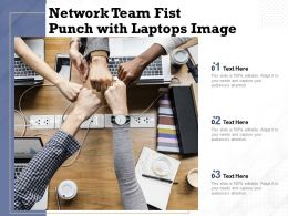 Network Team Fist Punch With Laptops Image