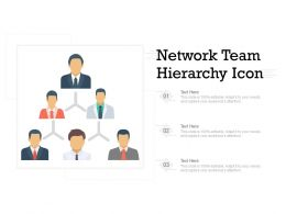 Network Team Hierarchy Icon
