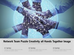 Network Team Puzzle Creativity All Hands Together Image