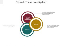 Network Threat Investigation Ppt Powerpoint Presentation Outline Design Inspiration Cpb