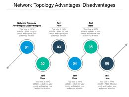 Network Topology Advantages Disadvantages Ppt Powerpoint Presentation Summary Tips Cpb
