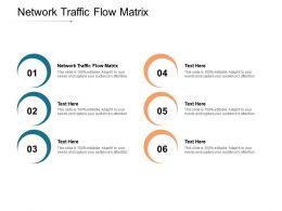 Network Traffic Flow Matrix Ppt Powerpoint Presentation Styles Outfit Cpb